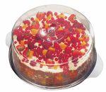 Блюдо для торта d=30 см. нерж. с крышкой h=11 см. APS